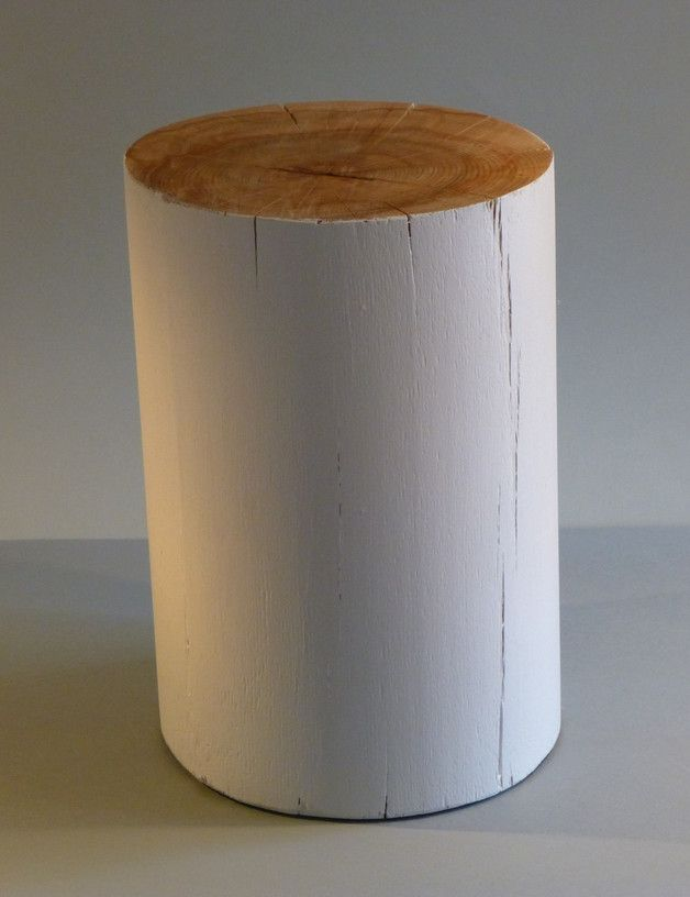 Baumstamm Hocker dekoration ideen: wunderbar baumstamm hocker holzklotz aus eiche als