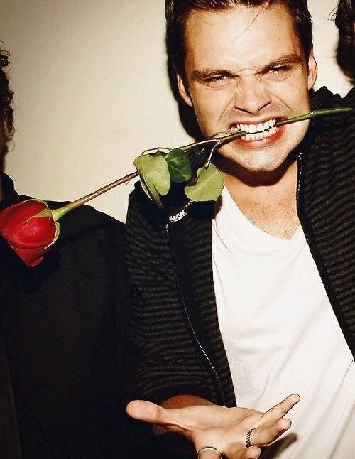 "Sebastian Stan | ""Why are you taking a picture while there's stuff between my teeth?!"""