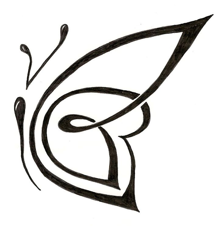 Tribal custom butterfly tattoo design. ginaleecincotta ...