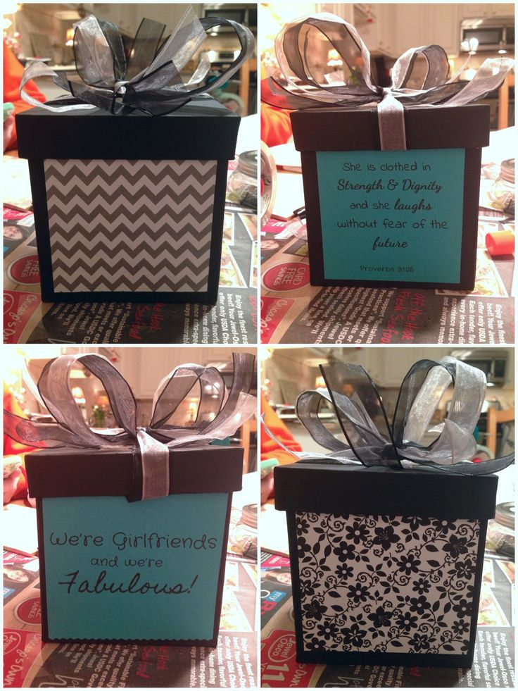 Diy gift box i made for my friends 18th birthday diy Amazing christmas gifts for your best friend