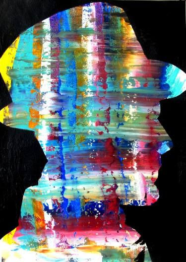 """Saatchi Art Artist Paolo Cervino; Painting, """"poetry on paper- the painter #2""""…"""
