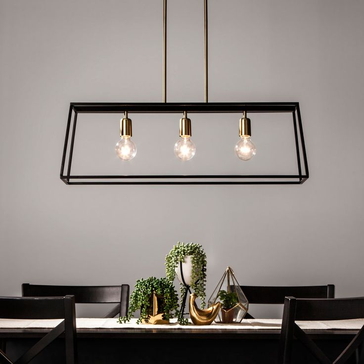 Esszimmerleuchten Modern 3 Light Pendant Modern Farmhouse Ceiling Light Black ...