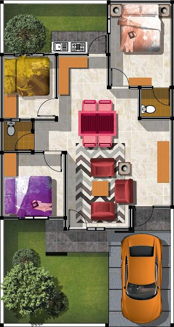 Gambar model denah rumah minimalis type 70 - Gambar Model Rumah Minimalis Modern