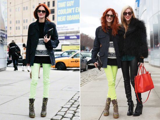 Neon jeans and combat boots? Yes please!