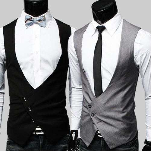 fashion men's waistcoat suit vest Mens Slim Fit Skinny Suit Dress Vest Black jacket suit accessories Wedding groom Vests