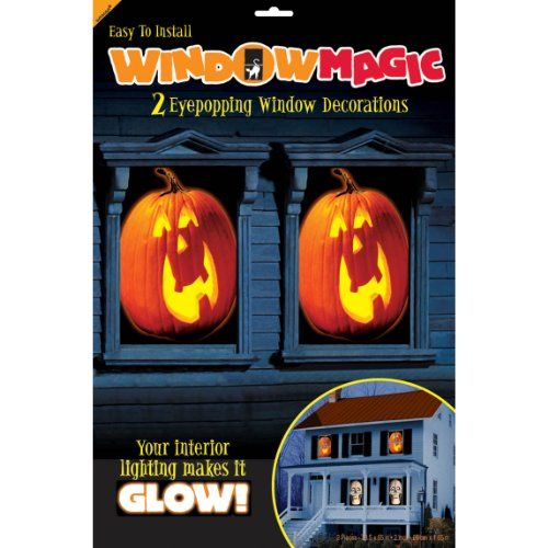 carve out a space in your halloween decorating for this window magic decorating kit