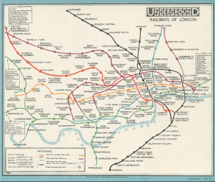 in pictures the 1927 london underground map