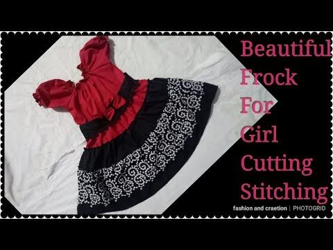 d4ec23c43182 Beautiful Frock Baby Girl frock Cutting and Stitching best frock ...