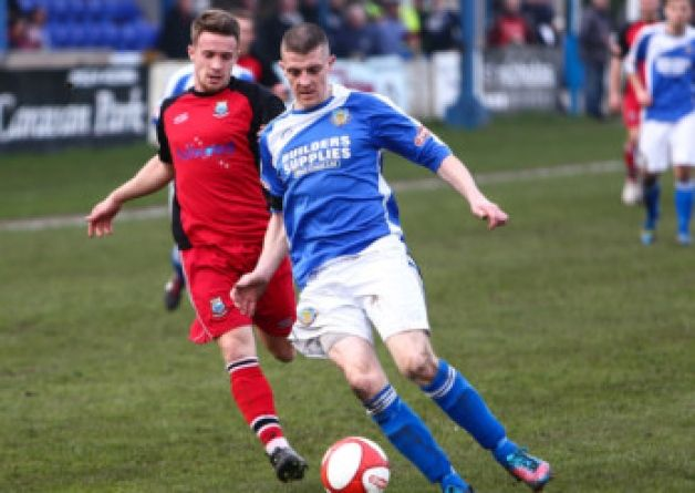 Lancaster City captain Neil Marshall returned with a goal against Brighouse Town.