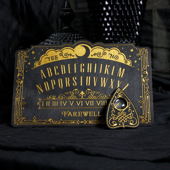 Mini Lunar Filigree Spirit Board Ouija Board by EnchantedRumors