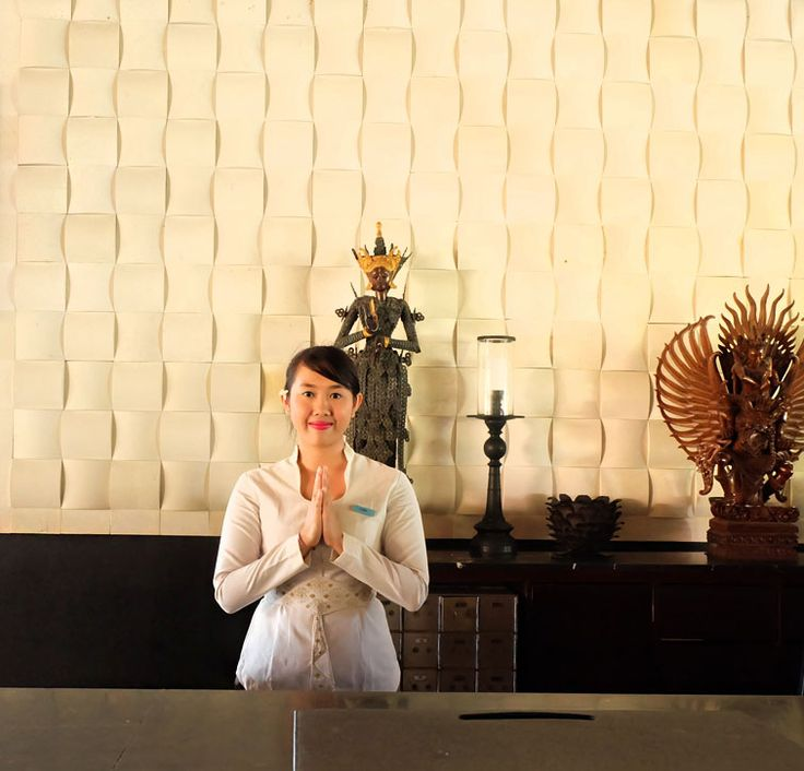 Meet Yeni, our front desk that's always smiling and ready to help you plan your excursions in #Bali during your stay at #TheTanjungBenoa #Beach #Resort.  www.benoaresort.com  #thetanjungbenoa #thetanjungbenoabeachresortbali #TheTAOBali #bali