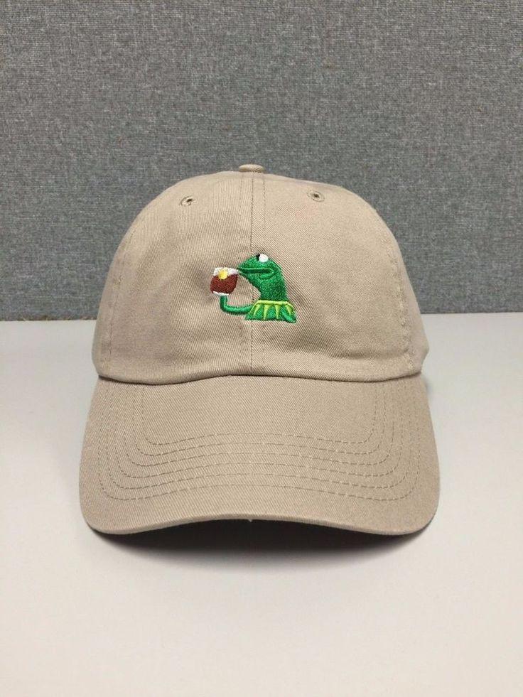 Kermit Tea Hat Slide Buckle None of My Business Emoji King Lebron James Meme   eBay