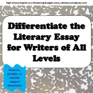 Importance Of English Language Essay How To Differentiate With Literary Essay Writing Persuasive Essay Topics For High School Students also Literary Essay Thesis Examples  Best High School English On A Shoestring Budget Images On  Essays About Health Care