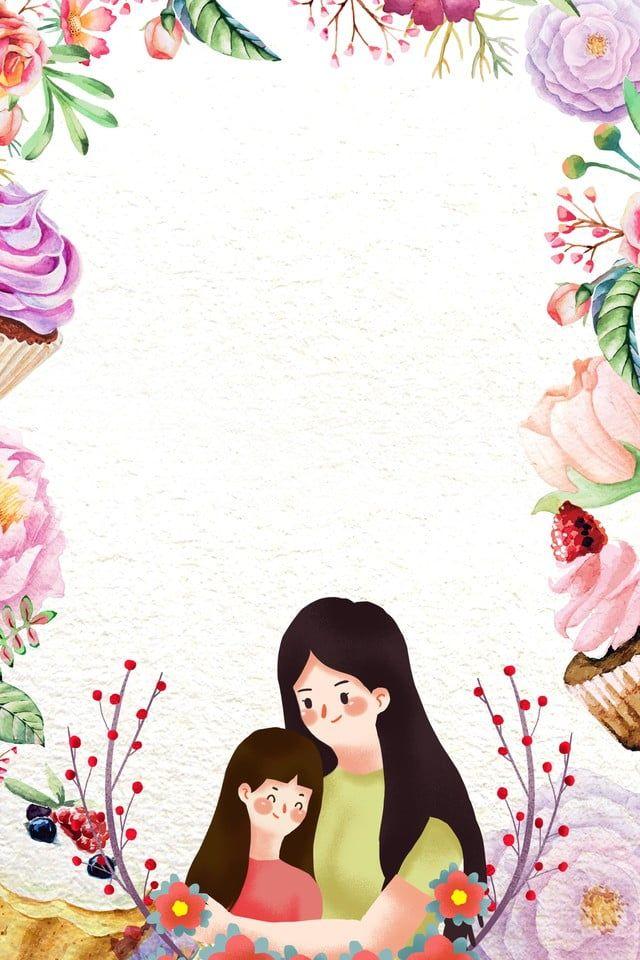 عيد الأم وردي أضيق الحدود شقة Theme Background Pink Themes Pink