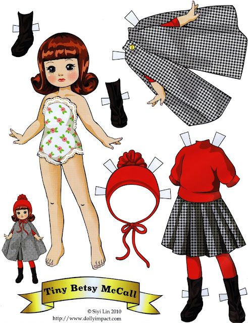 Paper Dolls - Tiny Betsy McCall