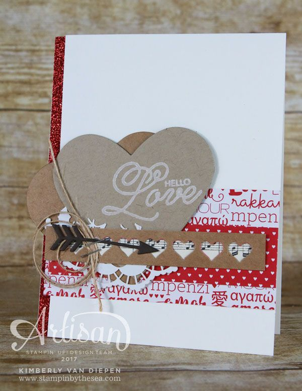 The Sending Love Suite from Stampin' Up! makes Valentine crafting simple with the ease of coordinating products.