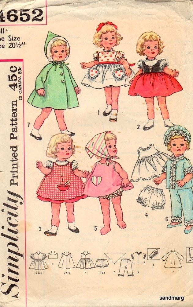 381 besten Vintage Doll Clothes Sewing Pattern Bilder auf Pinterest ...