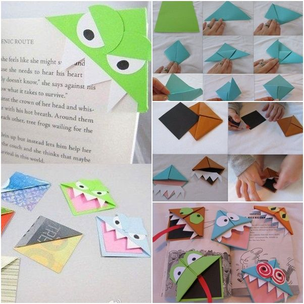 How to DIY Origami Monster Bookmarks | www.FabArtDIY.com LIKE Us on Facebook ==> https://www.facebook.com/FabArtDIY