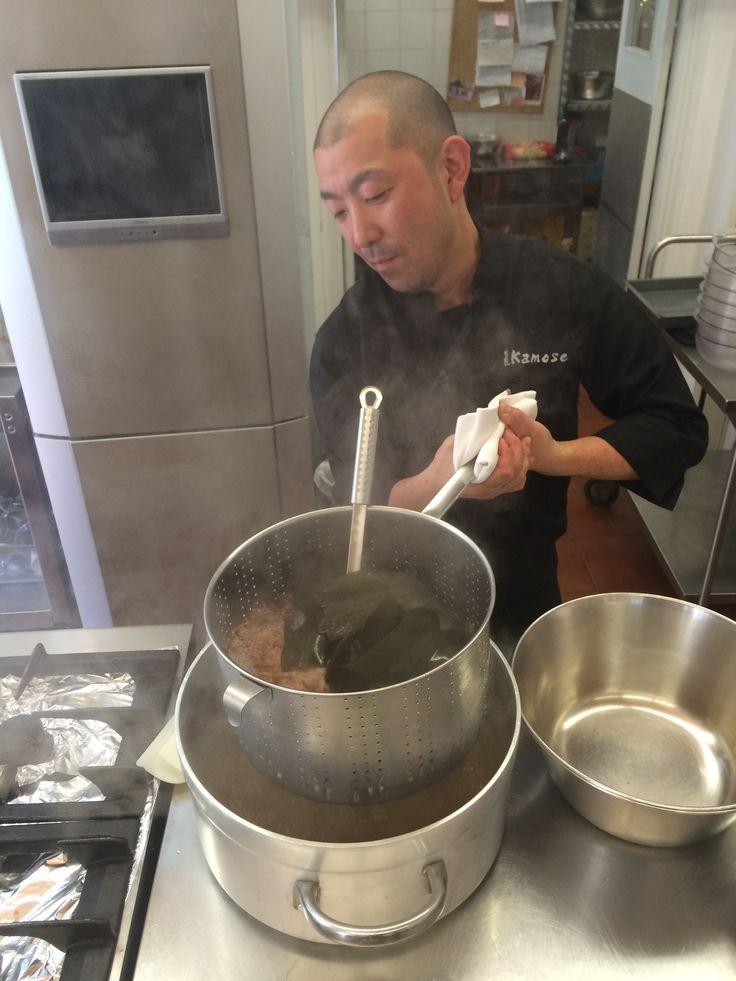 "Fushiki san at La Cucina Italiana ""miso class"""