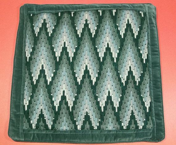 Evergreen Forest Bargello Pillow Cover