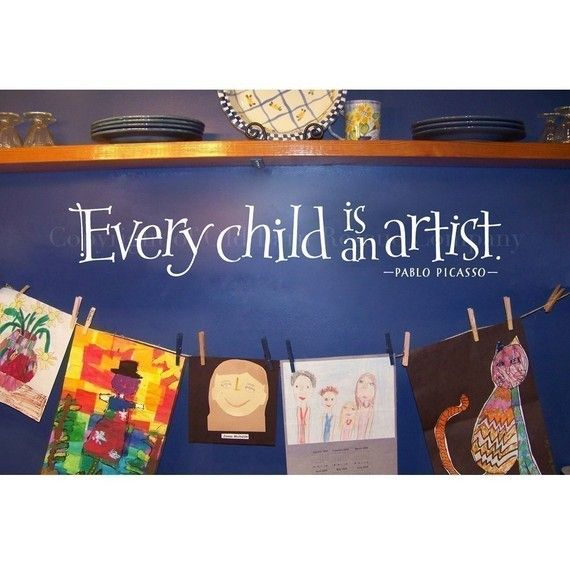 Every child is an artist  vinyl wall decal by OldBarnRescueCompany, $18.00