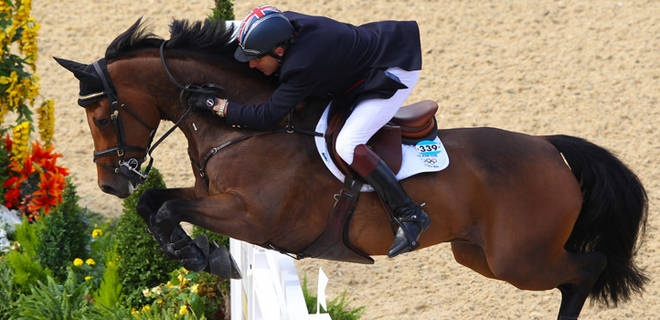Britain wins team show jumping in jump-off