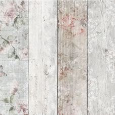 This romantic aged plank wallpaper will add a beautiful effect to any wall, turning your house into a home and creating the ultimate chic and cosy living space. <BR><BR>If you order more than one roll, we'll make sure all the batch codes are the same for you, so there's no need to worry about pattern mismatches. <BR> <BR>Design Match: Straight <BR>Design Repeat: 53cm<BR>Roll length: 10m<BR>Roll width: 52cm<BR> Coverage 5.2sqm
