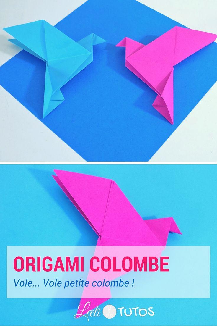 Symbole d'amour et de fidélité : voici comment réaliser une colombe en origami. C'est parti ! - sur www.LaetiTutos.fr