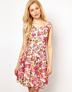 Lydia Bright Prom Dress in Vintage Floral (ASOS)