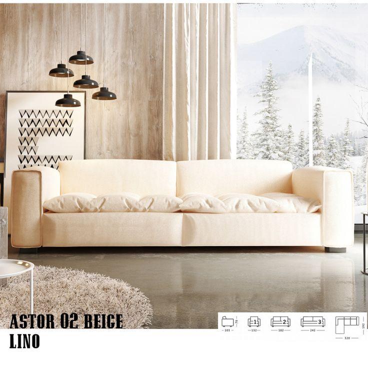 Astor 1/2/3 személyes vagy sarok kanapé Stílus:      Astor kollekció igazán stílusos, hatalmas, tűzött ülőfelületek,     Finom varrás a szemből nem látszó hátsó felületeken is.     Egyszerű és elegáns, fából készült lábak egészítik ki a képet.