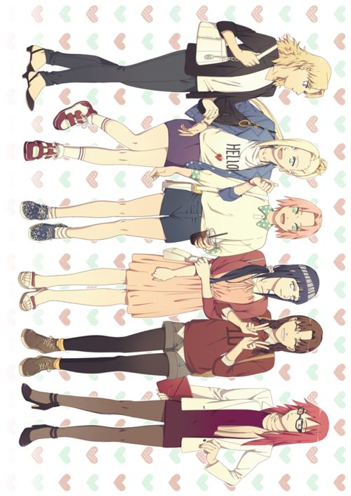 Best to worst, Lucy-style: Hinata Karin Tenten  Ino Temari Sakura (I just don't like her all that much. Not into rude, punching, loud girls, though I admit that the girl is strong and skilled)