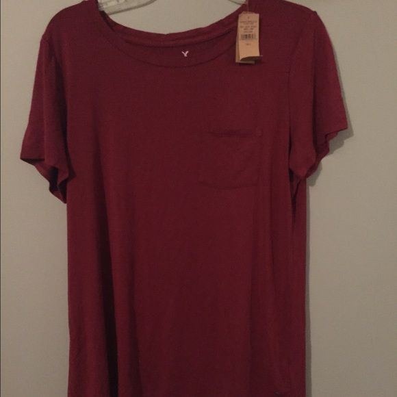 AMERICAN EAGLE SOFT AND SEXY MAROON T SHIRT American eagle soft and sexy red tee never been worn new with tags American Eagle Outfitters Tops Tees - Short Sleeve