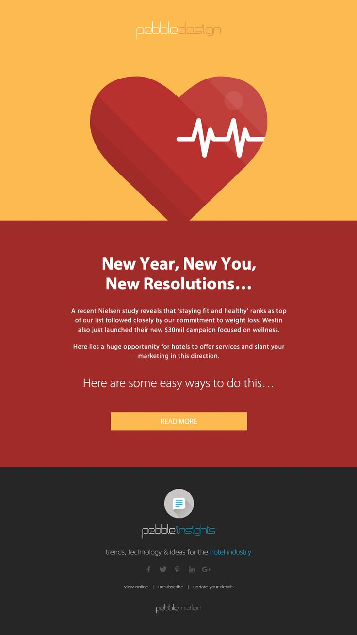 NEW YEAR, NEW YOU, NEW RESOLUTIONS…    A recent nielsen study reveals that 'staying fit and healthy' ranks as top of our list followed closely by our commitment to weight loss.    Find Out More - http://pebbledesign.com/insights/new-year-new-you-new-resolutions