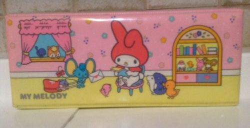 VINTAGE SANRIO HELLO KITTY *1976 MY MELODY PADDED PENCIL CASE *BEAUTIFUL