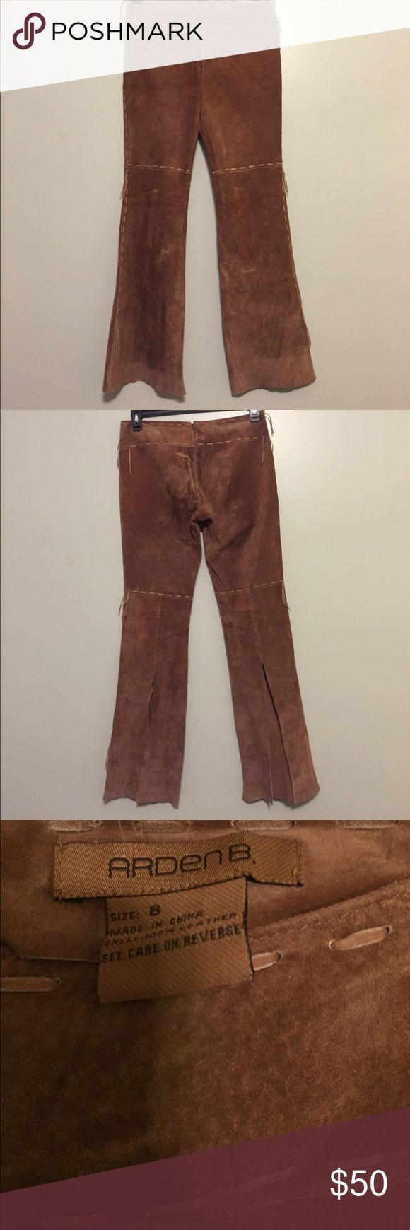 Arden B Leather Pants Arden B Leather Pants size 8 waist is approx 16 inches flat, rise 9 inches, inseam 32 inches Arden B Pants