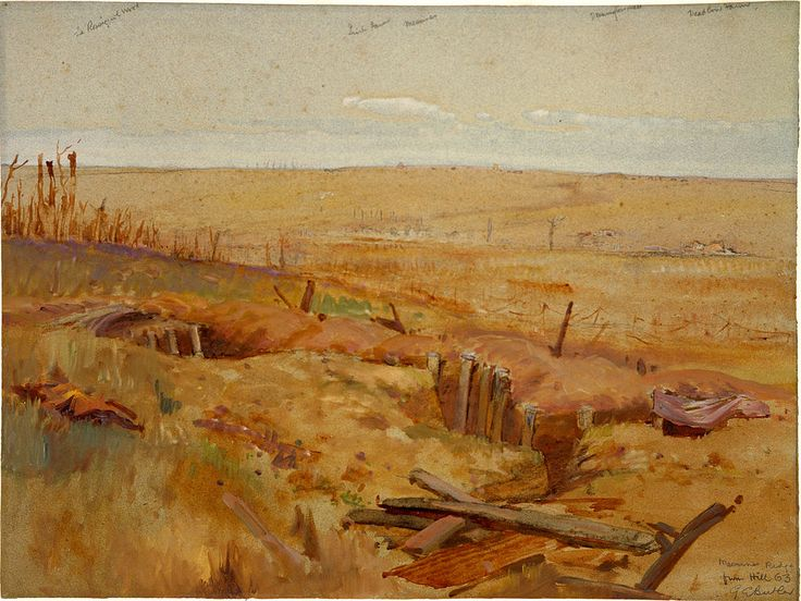 George Edmund Butler - Messines Ridge from Hill 63 - Battle of Messines (1917) - Wikipedia
