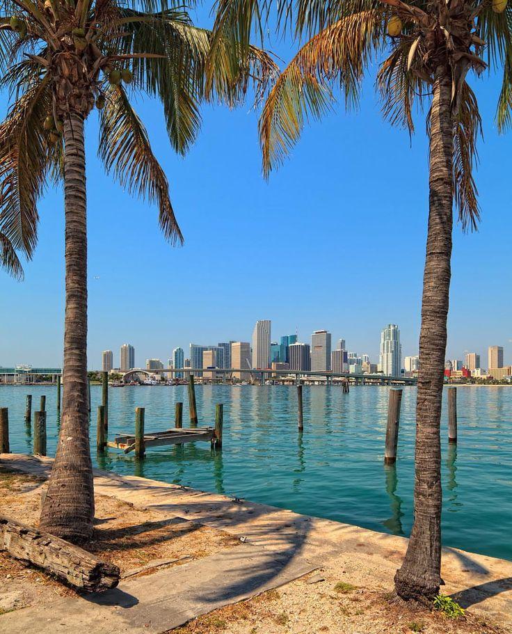 Great view of Downtown Miami by @miami_florida_305 #Miamibeach