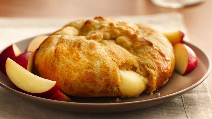Sirve este elegante, pero sencillo, bocadillo, con uno o más de los siguientes rellenos: chutney, jalea de jalapeño, mermelada de frutas o salsa.