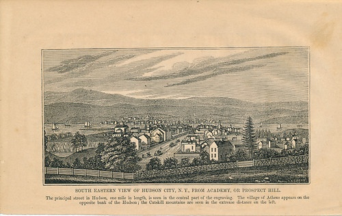 Hudson, NY 1851 Wood Engraved View  - recent acquisition
