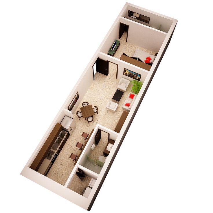 Residential project, Badillo Loft. CGI by Arch. Andrés González