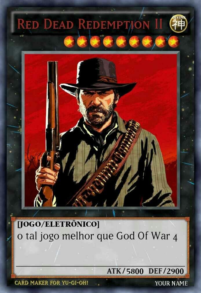 O Tal Jogo Melhor Que God Of War 4 Red Dead Redemption God Of War Baralhos