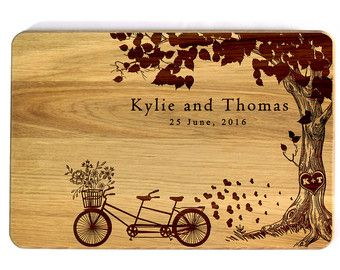 Bicycle Built For Two Personalized Cutting by ShadyOakBoardCo