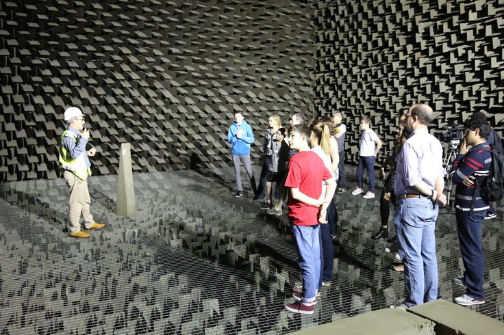 Learning about how sound is engineered in the anechoic acoustic lab at BRE https://www.bre.co.uk/