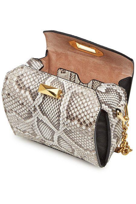 8db9457f4 Alexander McQueen - Snakeskin Box Bag 15   Fashion   Bags, Snake ...