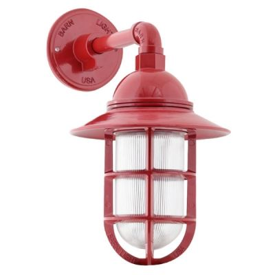 Industrial Guard Sconce 400 Barn Red Tgg Heavy Duty