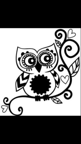 Owl sticker decal car window vinyl laptop tribal girl love owl sticker decal a19