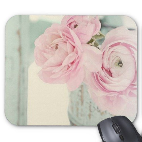 Shabby Chic Pitcher of Pink Flowers Mouse Pad | Zazzle.com – Preppy wallpaper