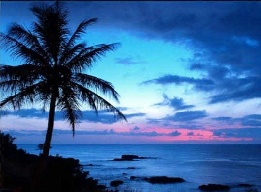 Blue sky and amazing sunset