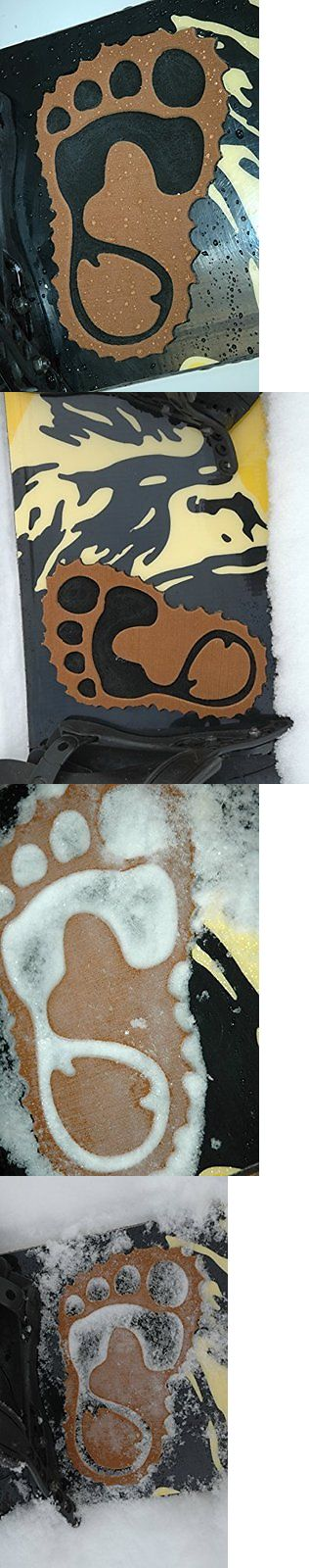Stomp Pads 159184: New Toejamr Snowboard Stomp Pad Bigfoot Furry Brown Left Free Shipping BUY IT NOW ONLY: $72.47