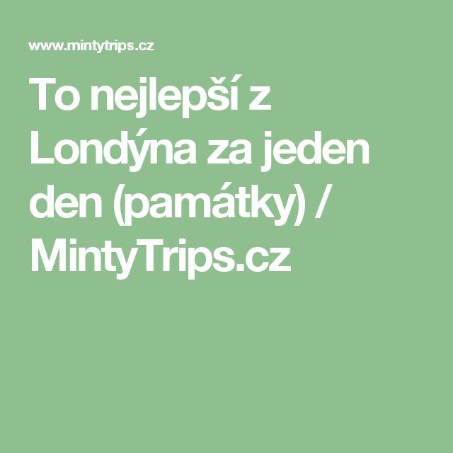 To nejlepší z Londýna za jeden den (památky) / MintyTrips.cz